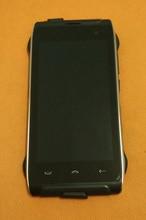 Kullanılan orijinal LCD ekran + dokunmatik ekran Digitizer + çerçeve için HOMTOM HT20 MTK6737 dört çekirdekli HD 1280x720 ücretsiz kargo