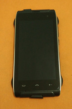 Używany oryginalny LCD wyświetlacz + ekran dotykowy Digitizer + rama dla HOMTOM HT20 MTK6737 czterordzeniowy HD 1280x720 darmowa wysyłka