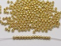 2000 pcs fashion diy AccessoriesJewelry decorative Gold Tone Plastic Round Spacer Beads 3mm Smooth Ball Beads