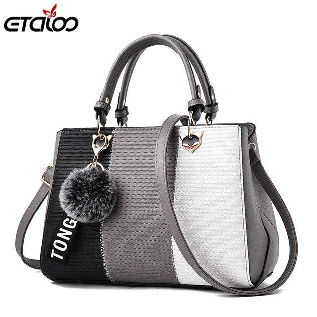 1dfadc1313 Women Bags Luxury Handbags Women Messenger Bags Cover Rivet Bag Girls Fashion  Shoulder Bag Ladies PU Leather Handbags