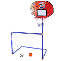 2 In 1 Children Outdoor Sports Toy Equipment Football Goal Basketball Stands Sports Toys for Kids Children Early Developmental