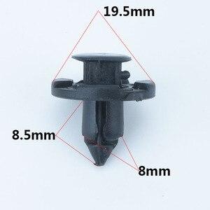 Image 5 - 100 sztuk 8mm zderzak samochodowy błotnik specjalny Nylon nit mocujący dla Livina Nissan Sylphy samochód tiida wewnętrzne klipsy mocujące