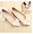 Summer new flats shoes women bow pointed toe ballet flat shoes  big size 40-43