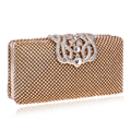 Luxurious Women Evening Bags Rhinestones Metal Crown Handbags Full Of Diamonds Day Clutches Purse Evening Bags Silver/gold/black