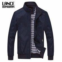 Мужская повседневная куртка M-5XL 6XL, однотонная верхняя одежда с воротником-стойкой, весна-осень 2019