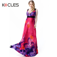 Plus Size 6 7XL Women Bohemian Summer Holiday Sexy Beach Elegant Maxi Fit And Flare Sleeveless