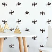 ФОТО funlife diy fox face cute wall decals self-adhesive nursery kids room decorative decals fox pattern art wall sticker pa095