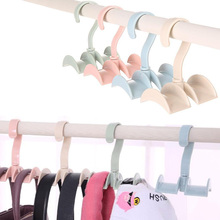 Modern Rotated Storage Rack Bag Hanger Without Punch Clothes Plastic Rack Creative Tie Coat Closet Hanger Wardrobe Organizer