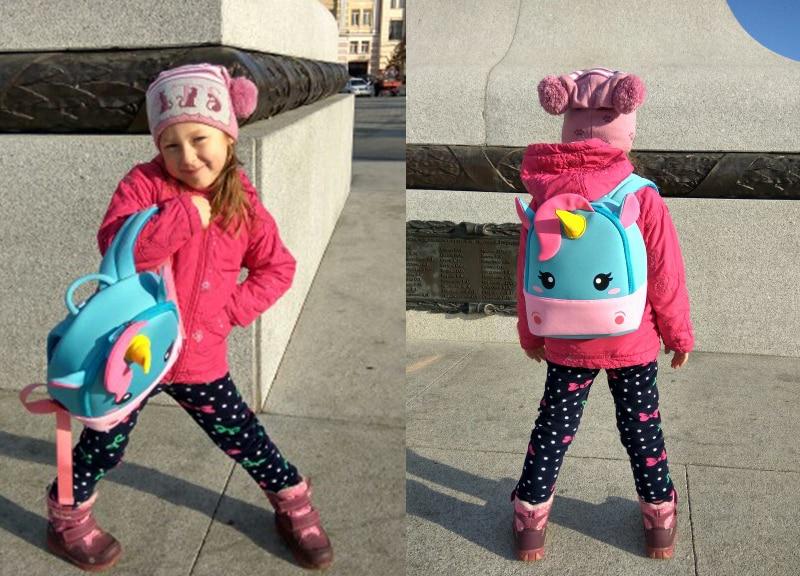 Children School Backpack Cartoon Rainbow Unicorn bag (1)