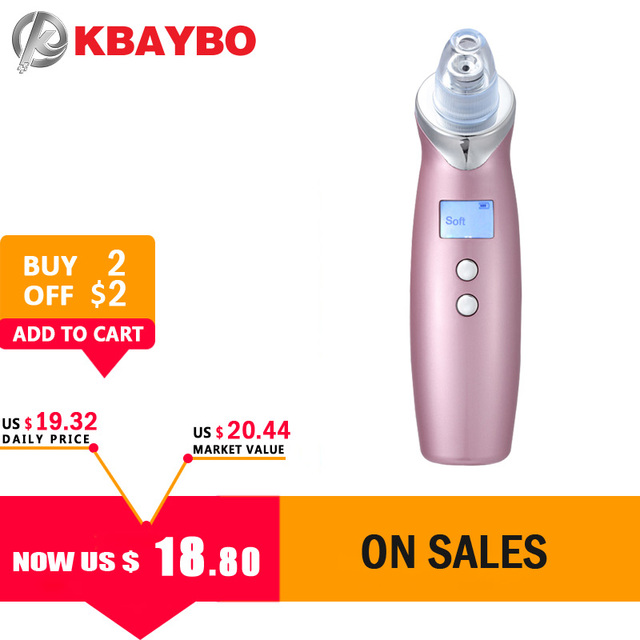 Blackhead Remover Vacuum Pore Cleaner 2018 USB Rechargeable Acne Comedone Extractor Cleanser Skin Peeling Diamond