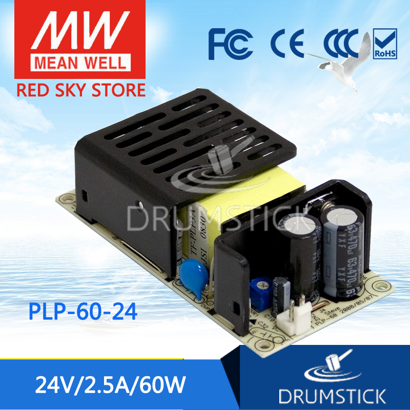 цена на Advantages MEAN WELL PLP-60-24 24V 2.5A meanwell PLP-60 24V 60W Single Output LED Power Supply