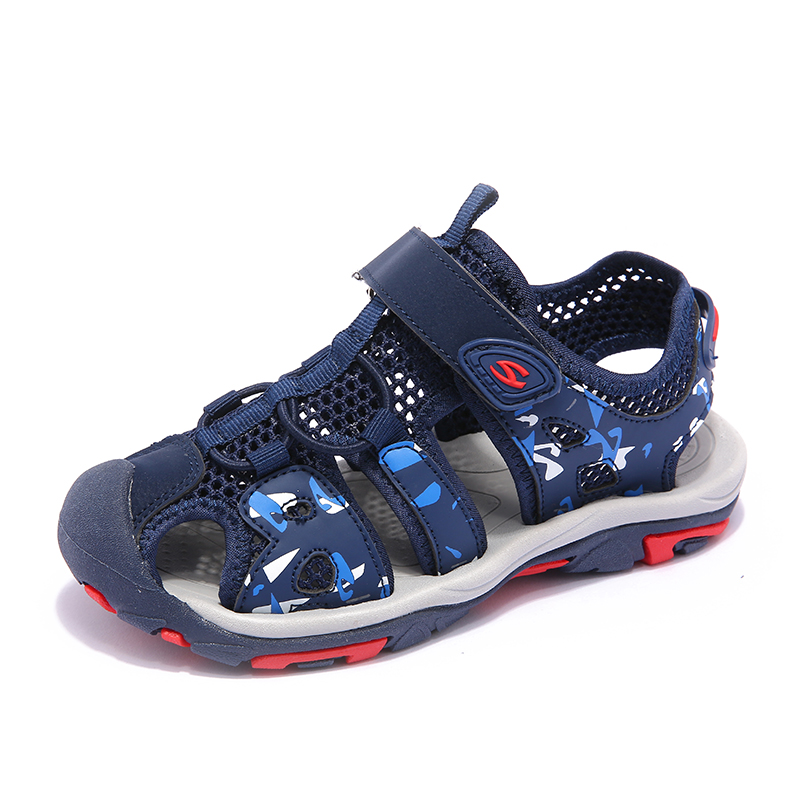 Summer Kids Sandals For Boys Breathable Children Sandals Anti-silppery Kids Beach Shoes  ...