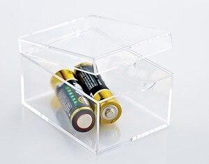 Image 3 - 6.4x4.7x3.7cmPlastic Transparente Rechteckige box probe box Kleine mini aufbewahrungsbox bin