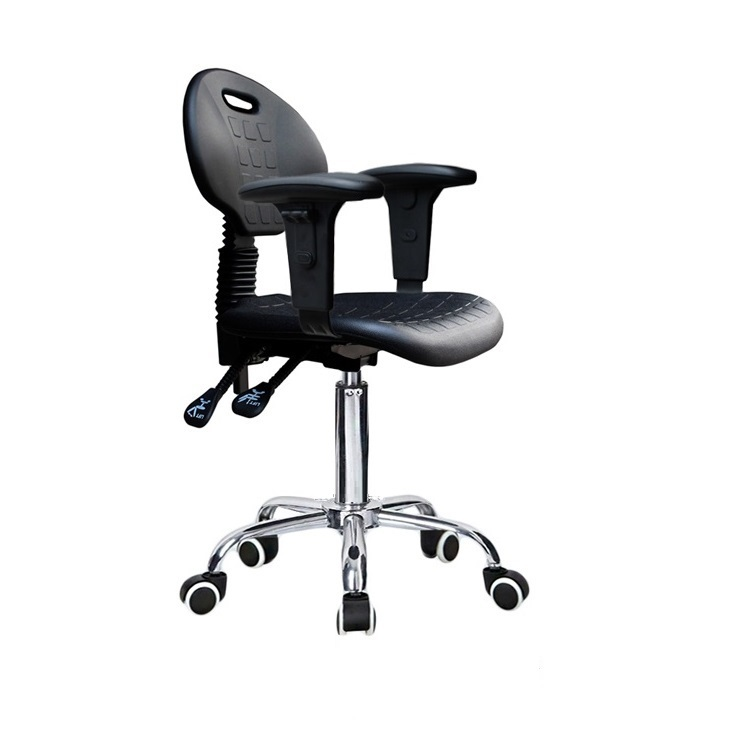 Production workshop Worker chair with armrest Laboratory lift rotation stool black color  dust-free workshop Static stool acidic protease production in air lift bioreactor by rhizopus arrhizus