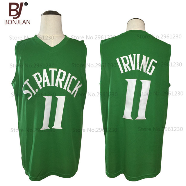 3bd576dbd ... coupon code for bonjean new cheap throwback basketball jersey kyrie  irving 11 st. patrick high