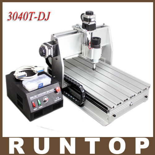 230W Three-axis CNC  Engraver  Milling Drilling Cutting Machine CNC 3040 T-DJ cnc 5axis a aixs rotary axis t chuck type for cnc router cnc milling machine best quality