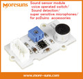 Rápido Envío Gratis sensor de Sonido módulo de voz/interruptor de detección de Sonido/súper sensibles micrófonos/para pcDuino accesorios