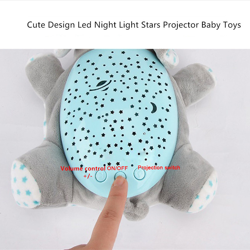 Winco Baby Sleep Plush Toys Led Lighting Stuffed Animal Led Night Lamp With Music Star Projector Light Baby Toys For Children #5