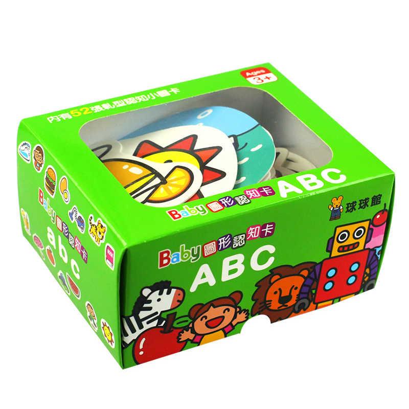 การ์ดเด็ก Montessori การศึกษาความรู้ความเข้าใจสัตว์การขนส่งดิจิตอลตัวอักษรภาษาอังกฤษการ์ดเกมของเล่นเด็ก