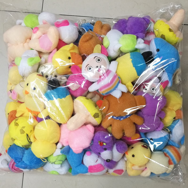 10pcs Random Styles Plush Toy 5-15cm Teddy Bear Duck Chick Cute Soft Stuffed Dolls For Kids Christmas Gift