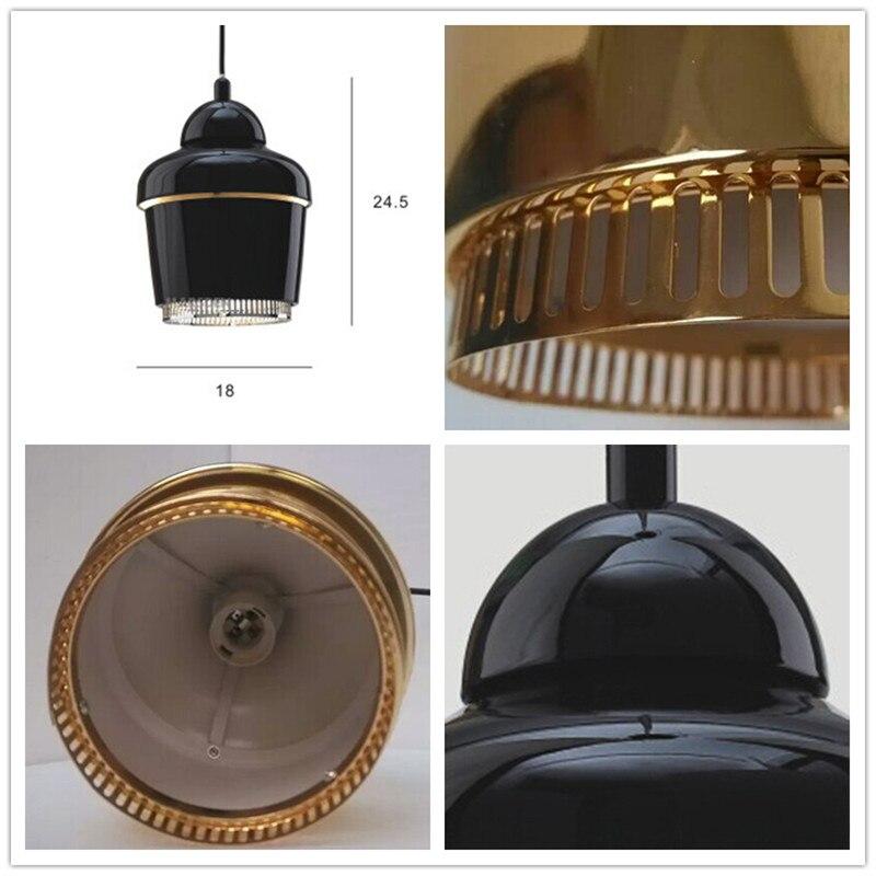Artek moderna Lampade A Sospensione Per Sala Da Pranzo Cucina Metallo Mini oro Infissi Lampada E27 110 V 220 V Illuminazione Domestica Lamparas 2016 nuovo - 5