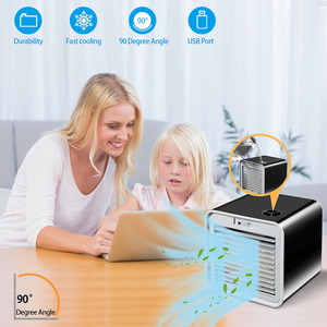 Image 5 - 편리한 새로운 소형 휴대용 에어 컨디셔너 가습기 공기 냉각기 공간 쉬운 차가운 Purifies 가정 사무실 책상을위한 큰 바람 팬