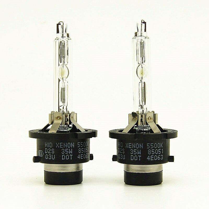 AFAECAR 2pcs 35W HID Xenon Light Lamp D2S 5500k 6500k D2S BULB