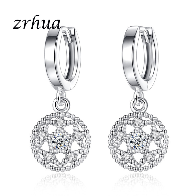Drop Earrings Zrhua New Fashion Good Selling 925 Sterling Silver Drop Earrings Accessories Dangle Brincos For Women/girls Wedding Jewelry Bracing Up The Whole System And Strengthening It