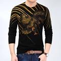 2016 Nuevo Suéter de la Marca de Los Hombres Suéter de Lana Otoño Invierno O-cuello Grueso Pullover Suéteres de Navidad Para Hombre de Alta Calidad