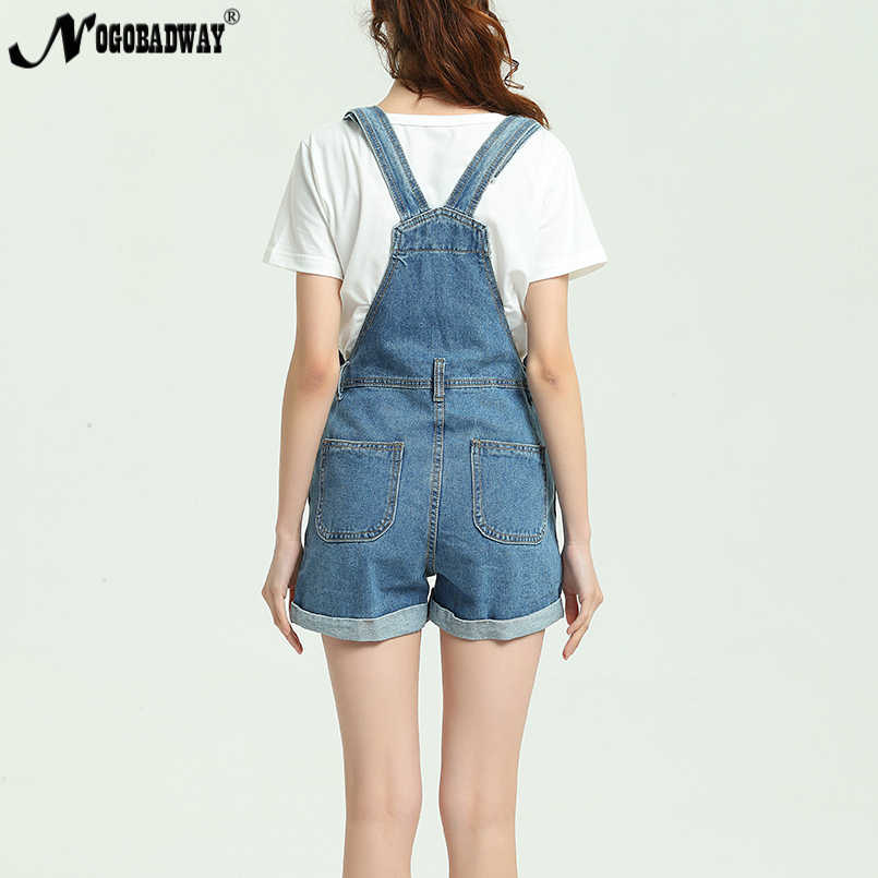 6490f61e11 ... 2018 New Summer Short Denim Jumpsuit Women Casual Jeans Romper Playsuits  Fashion Bandage Dungarees Overalls Shorts ...