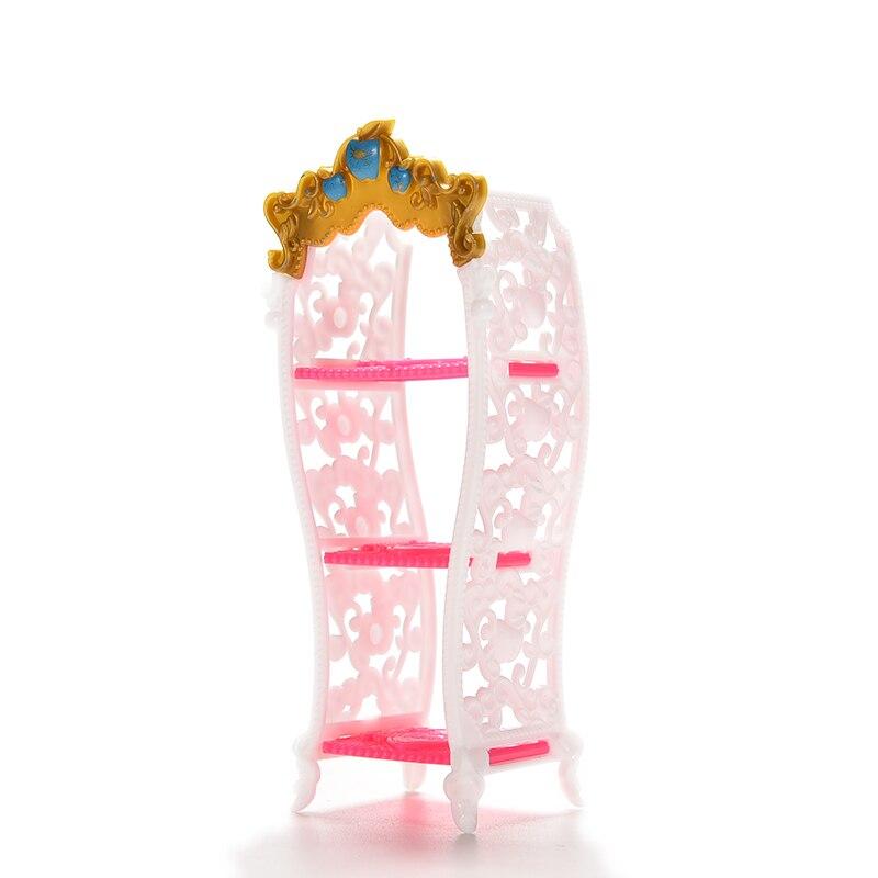 HOT SALE 1 PC Doll Shoe Cabinet Toys Mini Dolls Living Room Home House Decor Furniture Color Random