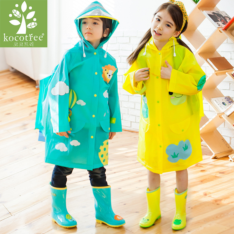 Image 1 - Students Raincoat With School Bags Cool Children RainCoat Kids rain pocket Jacket Waterproof Rain Coat Suit Children Raincoat-in Raincoats from Home & Garden