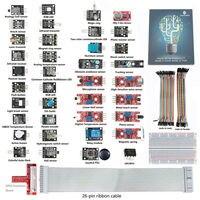 SunFounder 37 Modules Sensor Kit For Raspberry Pi GPIO Extension Board Jump Wires For RPi Model