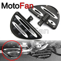 Custom Motorcycle Rear Passenger Floorboards Foot Pegs Black For Harley Davidson Road King Street Glide Dyna