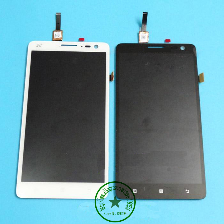 цены  Black/White 100% New LCD Display +Touch Screen Digitzer Glass Panel Assembly Replacement For Lenovo S856 S810t Phone Parts