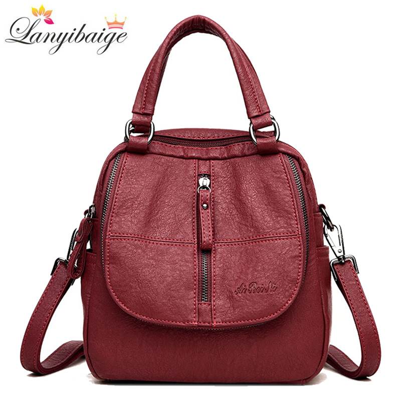 Simple Style Women Backpack Casual Large Capacity School Backpack Preppy Style Shoulder Bag For Ladies Travel Backpack 2019