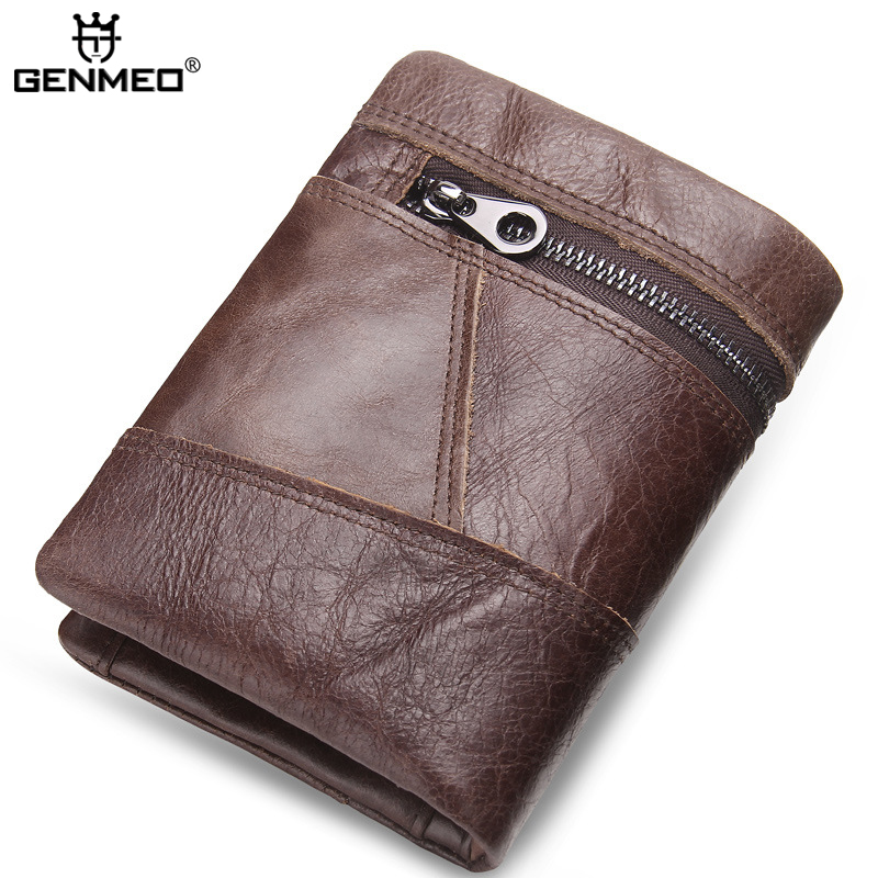New Arrival Genuine Leather Wallets Mens Cow Leather Clutch Bags Real Leather Wallet Credit Card Holder Male Purse Bolsa Handbag