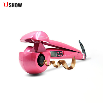 USHOW Automatic Hair Curler Pro Ceramic Hair Curling Iron Magic Wave Curl Roller Curling Wand Hair Styler