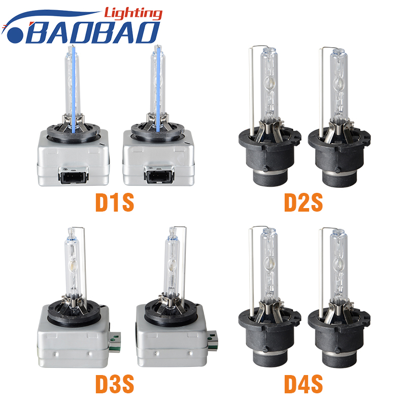 BAOBAO 2 pcs HID Bulbs D1S D1R D2S D2R D3S D3R D4S D4R Xenon HID Lamp Bulb 35W 3000K 4300K 5000K 6000K 8000K in Car Headlight Bulbs Xenon from Automobiles Motorcycles