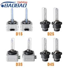 цена на 1pair Factory directly sell HID Bulbs D1S D1R D2S D2R D3S D3R D4S D4R Xenon HID Lamp Bulb Light 35W 3000K 4300K 5000K 6000K 8000