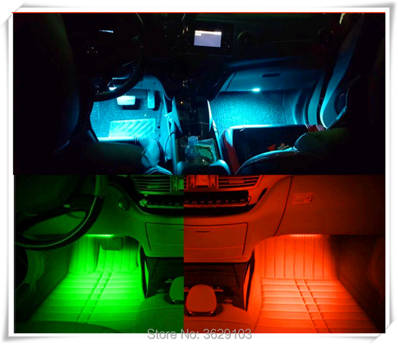 One trailer four car LED remote control colorful atmosphere lights for Toyota corolla rav4 Yaris prius hilux avensis verso camry наклейки digiface toyota hilux vitz rav4 camry prius