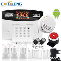 GSM Alarm System Wired/Wireless 433MHz, Russian / English / Spanish Voice Prompt, Built in Relay Support Extra Device Control