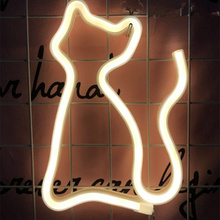 Cat Colorful Neon Light Green Led Neon Sign Light Holiday Xmas Party Wedding Decorations Room Night Lamp Home Wall Bar Christmas yam led cloud neon sign light night lamp w battery box wedding xmas party decor