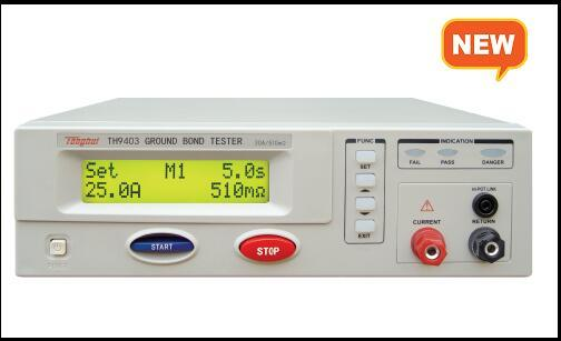 Fast arrival TH9403 Earth resistance tester earth resistance meter, ground bond tester optional RS232 and PLC interface