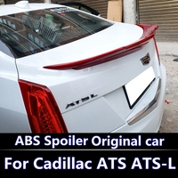 For Cadillac ATS L D3 2013 2016 Spoiler high quality ABS Material Car Rear Wing unpaint Color Rear Spoiler For ATS L Spoiler