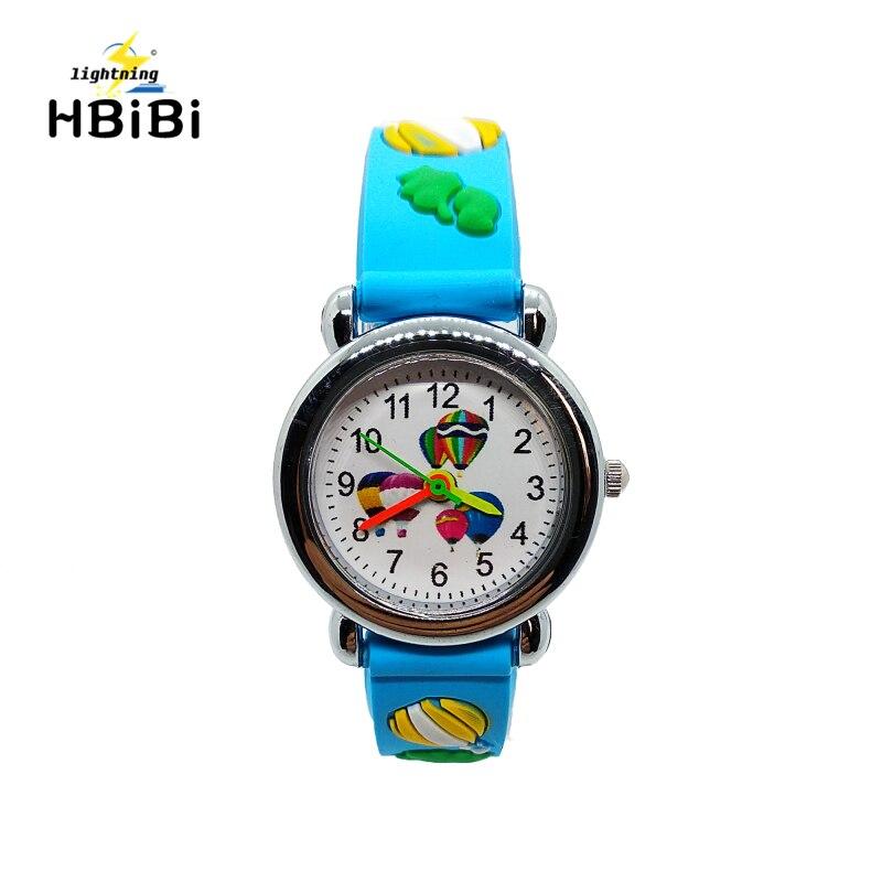 Wholesale Promotion !! Cartoon Car Story Kids Watches Students Boys Girls Clock Balloon Quartz Children Watch Sports Wristwatch