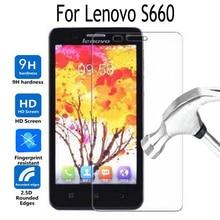 מזג זכוכית עבור Lenovo S660 S668T סרט כיסוי מגן מסך עבור Lenovo S 660 2.5D 9 H סרט מגן משוריינת כיסוי