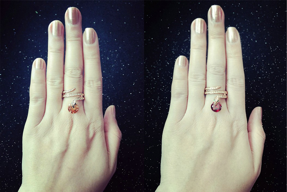 geekoplanet.com - Austrian Crystal Snake Ring