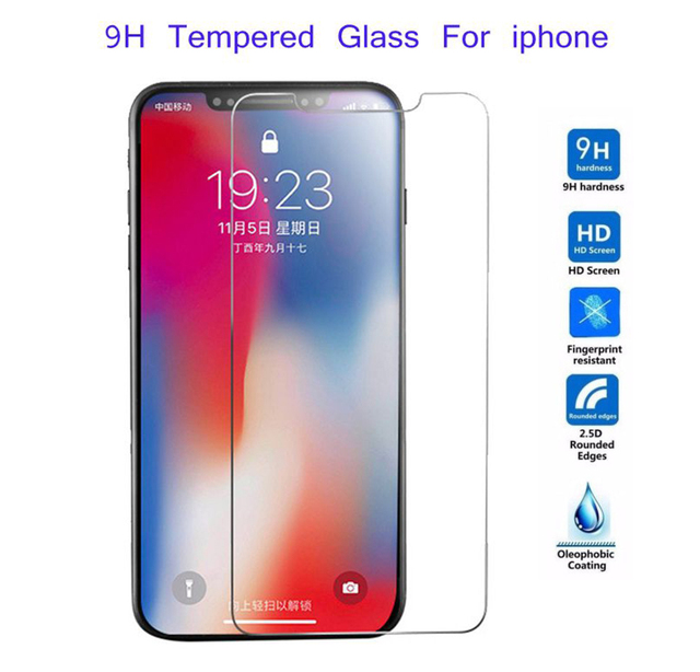 9H HD Tempered Glass For iphone X XS Max XR 6 6s 7 8 plus 5s 4s Screen Protector protective Glass on iphone 7 8 6 Plus X 5 glass