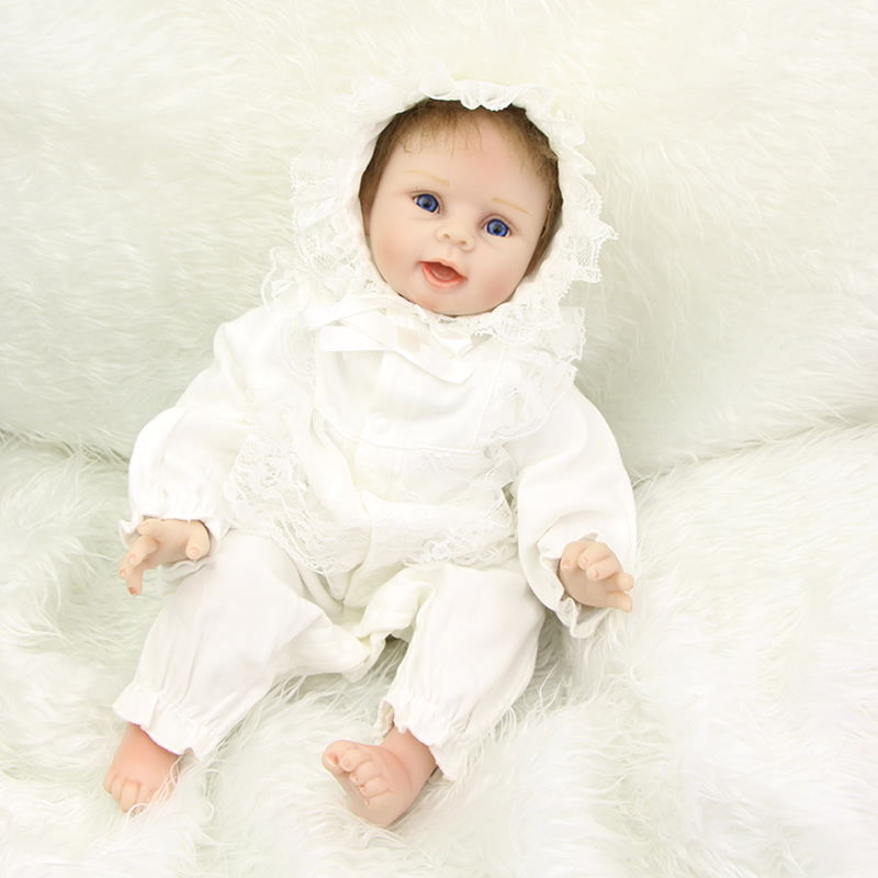 New Reborn Baby Dolls Handmade Realistic Soft Silicone Newborn Babies 22 inch Children Birthday Xmas Gift Free Magnet Pacifier hot sale 2016 npk 22 inch reborn baby doll lovely soft silicone newborn girl dolls as birthday christmas gifts free pacifier